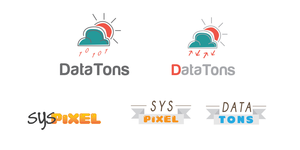 Logotipos datatons and syspixel by easysadmin
